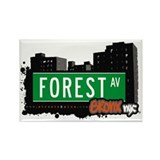 Forest Av, Bronx, NYC Rectangle Magnet (10 pack)