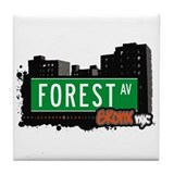 Forest Av, Bronx, NYC Tile Coaster