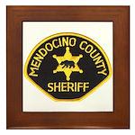 Mendocino County Sheriff Framed Tile