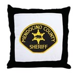 Mendocino County Sheriff Throw Pillow