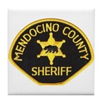 Mendocino County Sheriff Tile Coaster