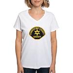 Mendocino County Sheriff Women's V-Neck T-Shirt