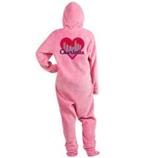 Charlotte Skyline Heart Footed Pajamas