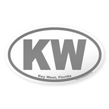 "Key West, Florida Oval ""KW"" Decal"