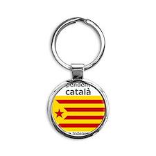 Catalan Independence Round Keychain