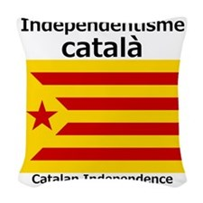 Catalan Independence (F and B) Woven Throw Pillow