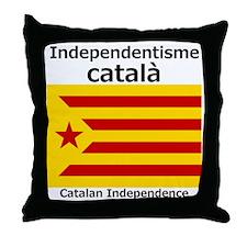 Catalan Independence (F and B) Throw Pillow