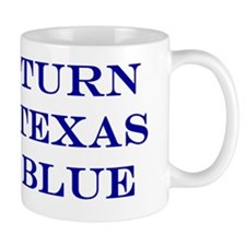 Turn Texas Blue Small Mug