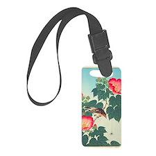 Floral  Bird Japanese Motif Luggage Tag