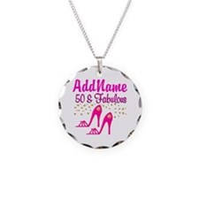 FIERCE 50TH Necklace Circle Charm