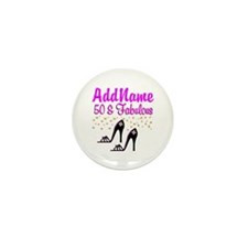 50TH SHOE QUEEN Mini Button (10 pack)