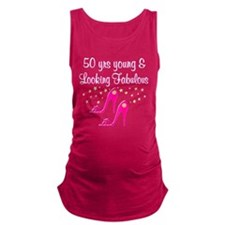 HOT PINK 50TH Maternity Tank Top