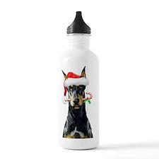 Doberman Christmas Water Bottle