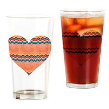 PEACH HEART Drinking Glass