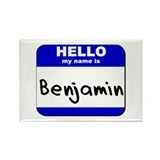 hello my name is benjamin Rectangle Magnet