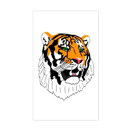 Tiger Rectangle Sticker
