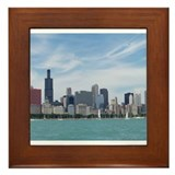 Cute Chicago downtown Framed Tile