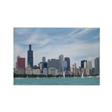 Unique Windy city Rectangle Magnet (10 pack)