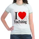 I Love YouTubing Jr. Ringer T-Shirt