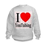 I Love YouTubing Kids Sweatshirt