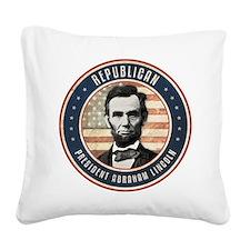 Republican President Abraham Lincoln Square Canvas