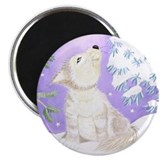 "Little Wolf in snow 2.25"" Magnet (100 pack)"
