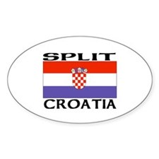 Split, Croatia Oval Decal
