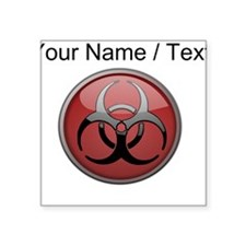 Custom Biohazard Symbol Sticker