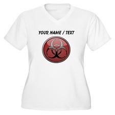 Custom Biohazard Symbol Plus Size T-Shirt