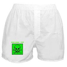 Custom Green Skull Sign Boxer Shorts