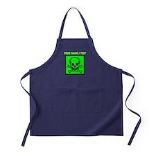 Custom Green Skull Sign Apron (dark)