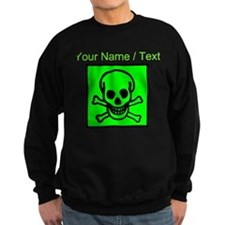 Custom Green Skull Sign Jumper Sweater