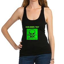 Custom Green Skull Sign Racerback Tank Top
