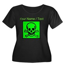 Custom Green Skull Sign Plus Size T-Shirt