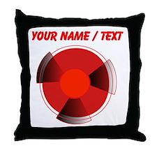 Custom Red Radioactivity Throw Pillow
