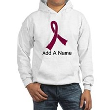 Personalized Burgundy Awareness Ribbon Hoodie