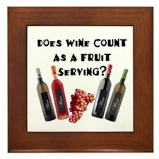 Wine as Fruit2? Framed Tile