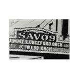 Savoy Marquee Rectangle Magnet