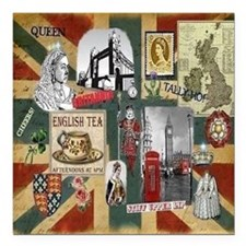 "Anglophiles Delight Square Car Magnet 3"" x 3"""