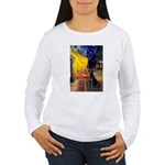 Cafe & Black Lab Women's Long Sleeve T-Shirt