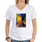 Cafe & Black Lab Women's V-Neck T-Shirt