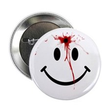 "White Smiley Face 2.25"" Button"