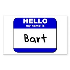 hello my name is bart Rectangle Decal