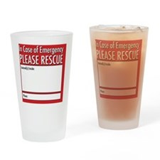 Emergency Animal Rescue Drinking Glass