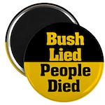 Bush Lied, People Died Magnet