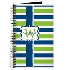 Personalized Stripe Monogram Journal