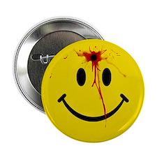 """Yellow Smiley Face 2.25"""" Button"""