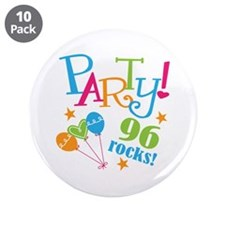 "96th Birthday Party 3.5"" Button (10 pack)"