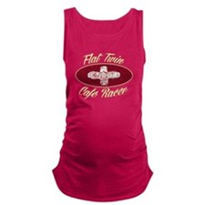Flat Twin Cafe racer logo Maternity Tank Top