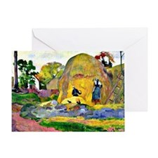 Gauguin - Golden Harvest, landscape  Greeting Card